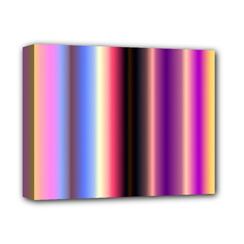 Multi Color Vertical Background Deluxe Canvas 14  X 11  by Simbadda