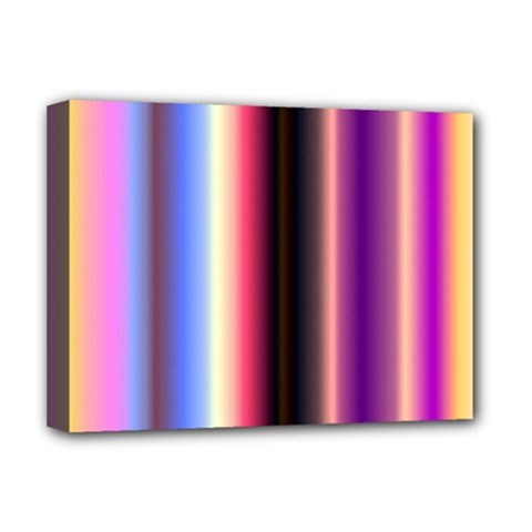 Multi Color Vertical Background Deluxe Canvas 16  X 12   by Simbadda