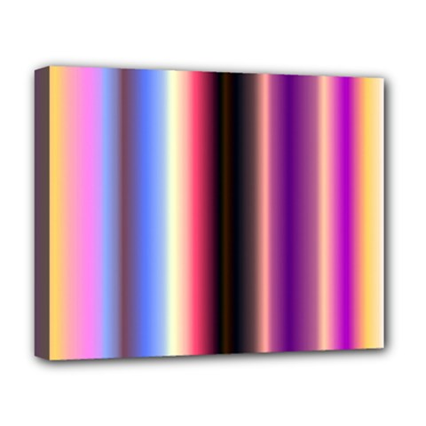 Multi Color Vertical Background Deluxe Canvas 20  X 16   by Simbadda