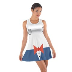 Peppermint Butler Wallpaper Face Cotton Racerback Dress by Alisyart