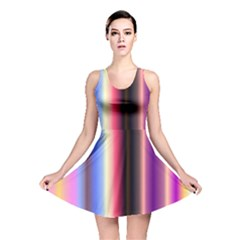 Multi Color Vertical Background Reversible Skater Dress by Simbadda