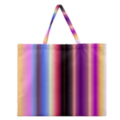 Multi Color Vertical Background Zipper Large Tote Bag by Simbadda