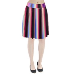 Multi Color Vertical Background Pleated Skirt