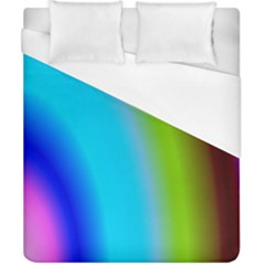 Multi Color Stones Wall Multi Radiant Duvet Cover (california King Size) by Simbadda