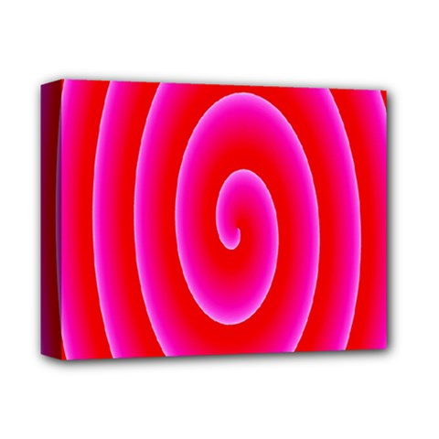 Pink Hypnotic Background Deluxe Canvas 14  X 11