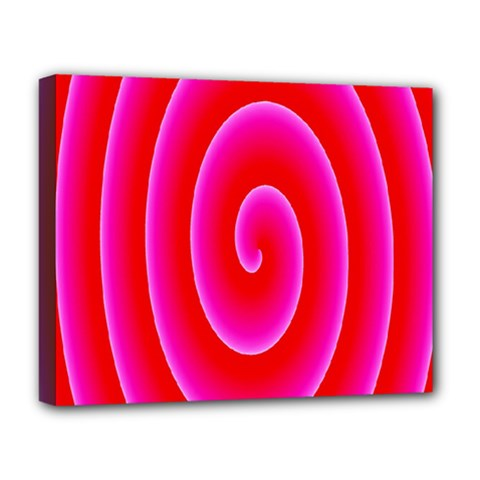 Pink Hypnotic Background Deluxe Canvas 20  X 16   by Simbadda
