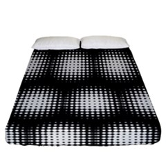 Black And White Modern Wallpaper Fitted Sheet (california King Size) by Simbadda