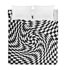 Whirl Duvet Cover Double Side (full/ Double Size) by Simbadda