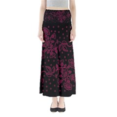 Floral Pattern Background Maxi Skirts by Simbadda