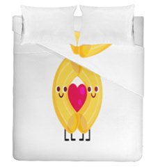 Say Pasta Love Duvet Cover Double Side (queen Size)