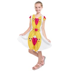 Say Pasta Love Kids  Short Sleeve Dress