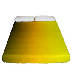 Yellow Gradient Background Fitted Sheet (california King Size) by Simbadda
