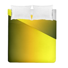 Yellow Gradient Background Duvet Cover Double Side (full/ Double Size) by Simbadda