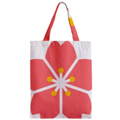 Sakura Heart Guild Flower Floral Zipper Classic Tote Bag by Alisyart