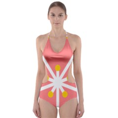 Sakura Heart Guild Flower Floral Cut Out One Piece Swimsuit