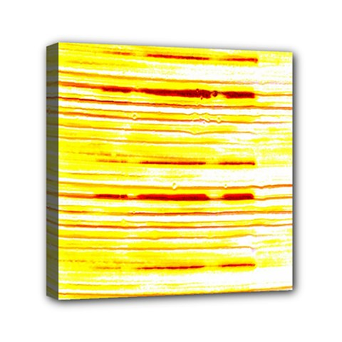 Yellow Curves Background Mini Canvas 6  X 6  by Simbadda