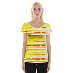 Yellow Curves Background Women s Cap Sleeve Top by Simbadda