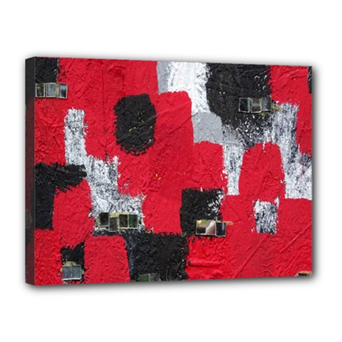 Red Black Gray Background Canvas 16  X 12  by Simbadda