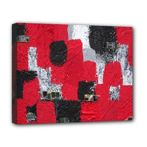 Red Black Gray Background Deluxe Canvas 20  X 16   by Simbadda