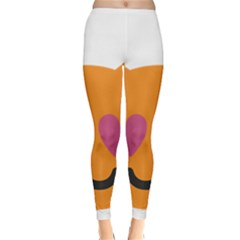 Smile Face Cat Orange Heart Love Emoji Classic Winter Leggings