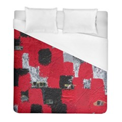 Red Black Gray Background Duvet Cover (full/ Double Size)