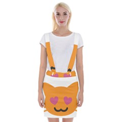 Smile Face Cat Orange Heart Love Emoji Suspender Skirt