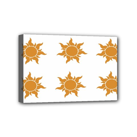 Sun Cupcake Toppers Sunlight Mini Canvas 6  X 4  by Alisyart