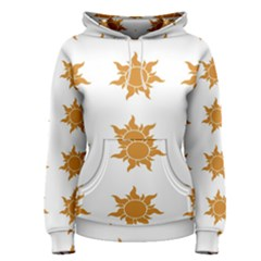 Sun Cupcake Toppers Sunlight Women s Pullover Hoodie