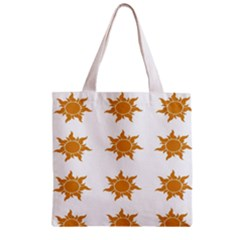 Sun Cupcake Toppers Sunlight Zipper Grocery Tote Bag by Alisyart
