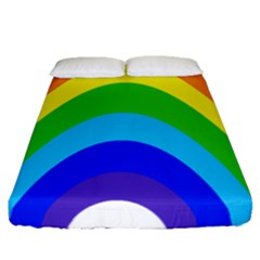 Rainbow Fitted Sheet (queen Size) by Alisyart
