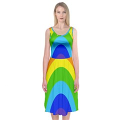 Rainbow Midi Sleeveless Dress by Alisyart