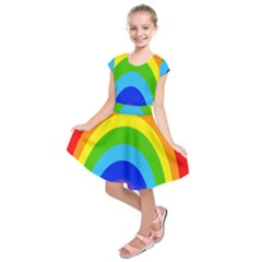 Rainbow Kids  Short Sleeve Dress by Alisyart