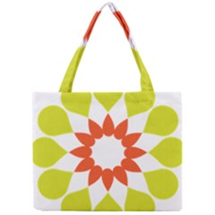 Tikiwiki Abstract Element Flower Star Red Green Mini Tote Bag by Alisyart