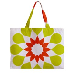 Tikiwiki Abstract Element Flower Star Red Green Zipper Mini Tote Bag by Alisyart