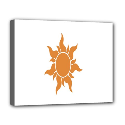 Sunlight Sun Orange Deluxe Canvas 20  X 16   by Alisyart