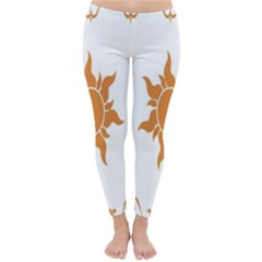 Sunlight Sun Orange Classic Winter Leggings