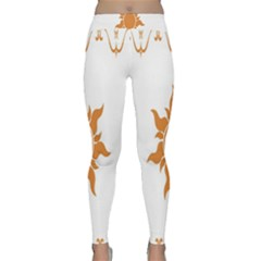 Sunlight Sun Orange Classic Yoga Leggings by Alisyart