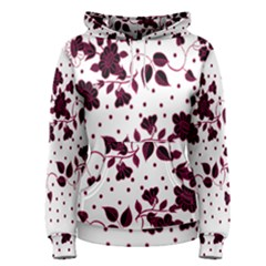 Floral Pattern Women s Pullover Hoodie by Simbadda