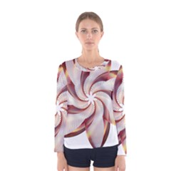 Prismatic Flower Line Gold Star Floral Women s Long Sleeve Tee by Alisyart