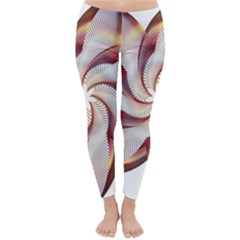 Prismatic Flower Line Gold Star Floral Classic Winter Leggings