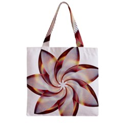 Prismatic Flower Line Gold Star Floral Zipper Grocery Tote Bag by Alisyart