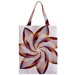Prismatic Flower Line Gold Star Floral Zipper Classic Tote Bag by Alisyart