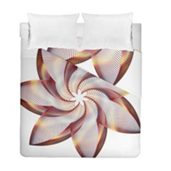 Prismatic Flower Line Gold Star Floral Duvet Cover Double Side (full/ Double Size) by Alisyart