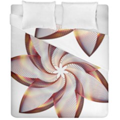 Prismatic Flower Line Gold Star Floral Duvet Cover Double Side (california King Size) by Alisyart