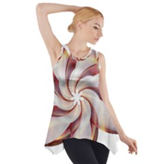 Prismatic Flower Line Gold Star Floral Side Drop Tank Tunic