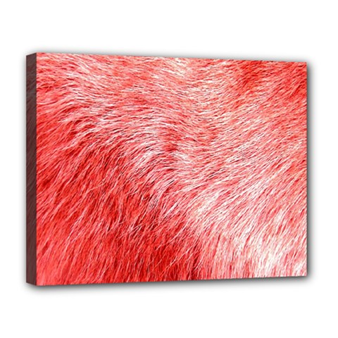 Pink Fur Background Canvas 14  X 11