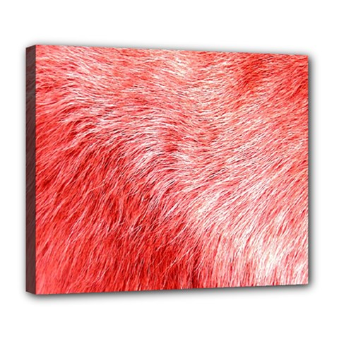 Pink Fur Background Deluxe Canvas 24  X 20   by Simbadda