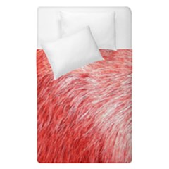 Pink Fur Background Duvet Cover Double Side (single Size) by Simbadda