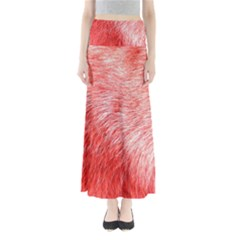 Pink Fur Background Maxi Skirts