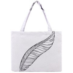 Feather Line Art Mini Tote Bag